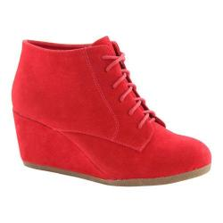 Women's L & C Brenda-11 Wedge Bootie Red