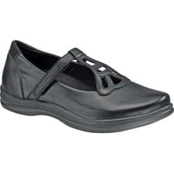 Women's Apex Charlotte T-Strap Mary Jane Black Full Grain Leather
