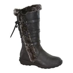 Girls' Wild Diva Aura-42K Fur Boot Black Faux Fur/Faux Leather