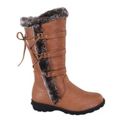 Girls' Wild Diva Aura-42K Fur Boot Tan Faux Fur/Faux Leather