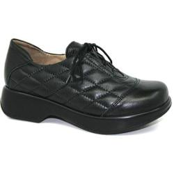 Women's Dromedaris Merlin Lace Up Black Veg Tanned Leather
