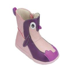 Girls' Zooligans Penny the Penguin Big Kid Boot Pale Pink/Imperial Purple