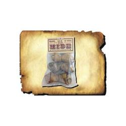 """Made From 100% Usa Hide 3 Pack 4 - 5"""" Basted Beef Bone"""