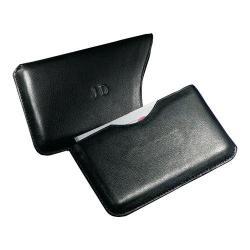 Andrew Phillips Slide-Out Business Card Case Black Genuine Split Leather