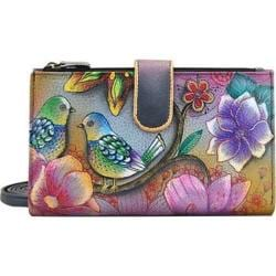 Women's Anuschka Large Smart Phone Case & Wallet Blissful Birds 16748376