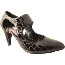 Women's Bellini Mix Heel Black Croc
