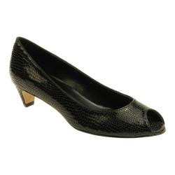 Women's VANELi Baxter Peep-Toe Pump Black Naif Print