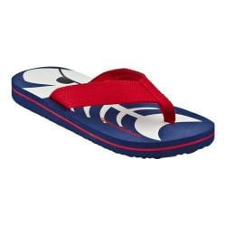Boys' Hanna Andersson Flip Flop Navy/Apple Red Webbing