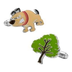 Men's Cufflinks Inc Barking Up the Wrong Tree Cufflinks Multicolored