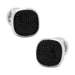 Men's Cufflinks Inc Black Pave Crystal Cufflinks Black