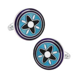 Men's Cufflinks Inc Blue and Purple Twilight Star Cufflinks Blue 16598881