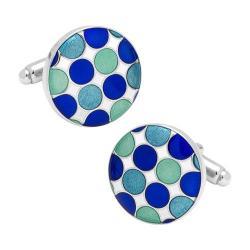 Men's Cufflinks Inc Blue Polka Dot Cufflinks Blue 16598886