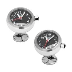 Men's Cufflinks Inc Stainless Steel Watch Cufflinks Silver