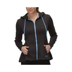 Women's Fila Bella Jacket Black Heather/Lavender Blue