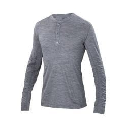 Men's Ibex OD Henley Long Sleeve Stone Grey Heather