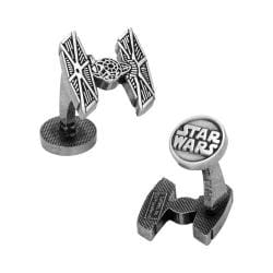 Men's Cufflinks Inc TIE Fighter Silver Etched Cufflinks Silver 16599030