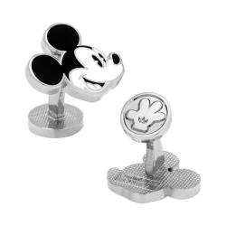 Men's Cufflinks Inc Vintage Mickey Head Cufflinks White