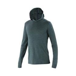 Men's Ibex Straightaway Hoody Billiard Stripe