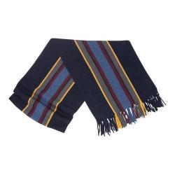 Men's Ibex Stripe Scarf With Fringe Midnight Stripe
