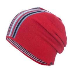 Men's Ibex Vertical Stripe Beanie Red Ant