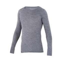 Men's Ibex Woolies 1 Crew Long Sleeved Tee Stone Grey Heather