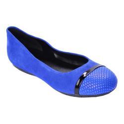 Women's Nicole Miller Grace 2 Ballet Flat Blue Snake/Black Patent/Blue Snake