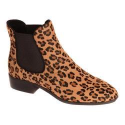 Women's Nicole Miller Nadine 2 Chelsea Bootie Dark Brown/Leopard Pony