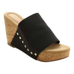Women's XOXO Benson Cork Slide Sandal Black Elastic