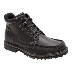 Men's Rockport Gentlemen's Boot Waterproof Moc Toe Mid Black Leather