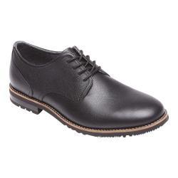 Men's Rockport Ledge Hill Plaintoe Black/Black Leather