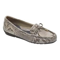 Women's Rockport Total Motion Driver Bow Moc Roccia Python