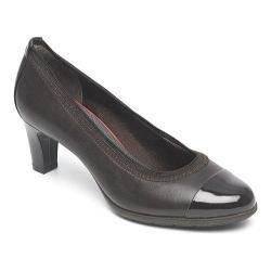 Women's Rockport Total Motion Melora Gore Captoe Shoe Ebano Burn Calf Leather