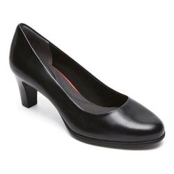 Women's Rockport Total Motion Melora Plain Pump Black Burn Calf Leather