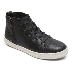 Women's Rockport truWALKzero Cupsole Hi Top Black Distressed Leather