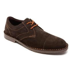 Men's Rockport Urban Edge Cap Toe Oxford Dark Bitter Chocolate Suede