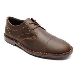 Men's Rockport Urban Edge Cap Toe Oxford Dark Brown Leather