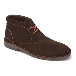 Men's Rockport Urban Edge Plain Toe Chukka Dark Bitter Chocolate Suede