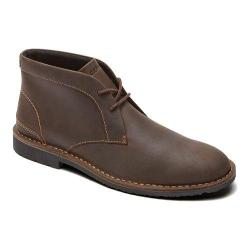 Men's Rockport Urban Edge Plain Toe Chukka Dark Brown Leather