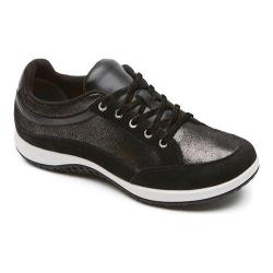 Women's Rockport Walk360 Trinetty Gore Laceup Black Nubuck