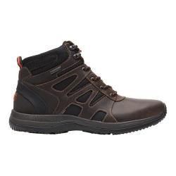 Men's Rockport XCS Urban Gear Waterproof Mid Boot Dark Brown Leather/Mesh