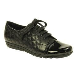 Women's VANELi Ariel Zip-Up Shoe Black Quilted Nappa/Black Patent