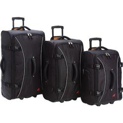 Athalon Hybrid Luggage 3 Piece Set Black