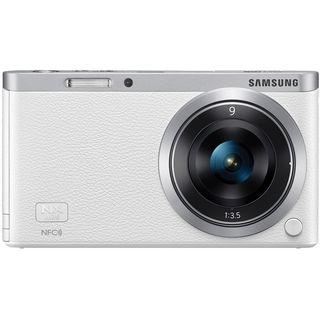 Samsung NX Mini Mirrorless White Digital Camera with 9mm Lens