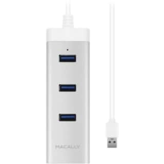 Macally 3 Port USB 3.0 Hub with Gigabit Ethernet Adapter