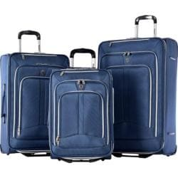 Olympia Hamburg Navy 3-piece Expandable Rolling Luggage Set