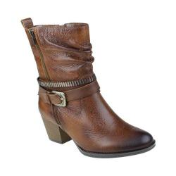 Women's Earth Spruce Buckle Boot Almond Tumbled Leather