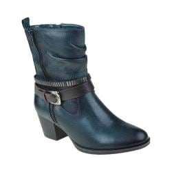 Women's Earth Spruce Buckle Boot Forest Green Tumbled Leather