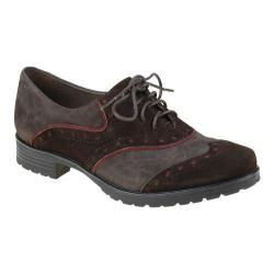Women's Earthies Berlin Oxford Dark Brown Kid Suede