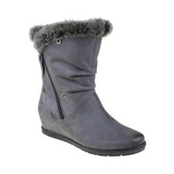 Women's Earthies Gelderland Faux Fur Boot Dark Grey Vintage Leather