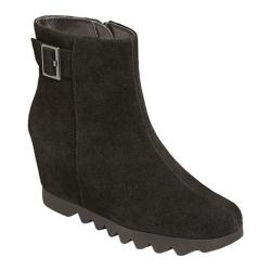 Women's Aerosoles Confidential Suede Wedge Bootie Black Suede